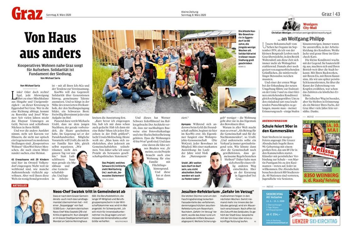 Unsere KooWos in der Kleinen Zeitung