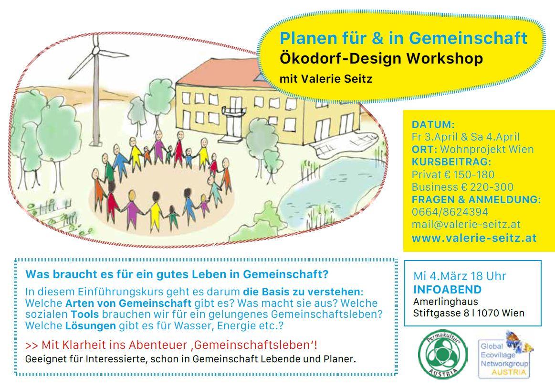 Planen für & in Gemeinschaft Ökodorf-Design Workshop mit Valerie Seitz