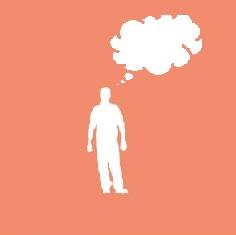 Denkblase eine Person