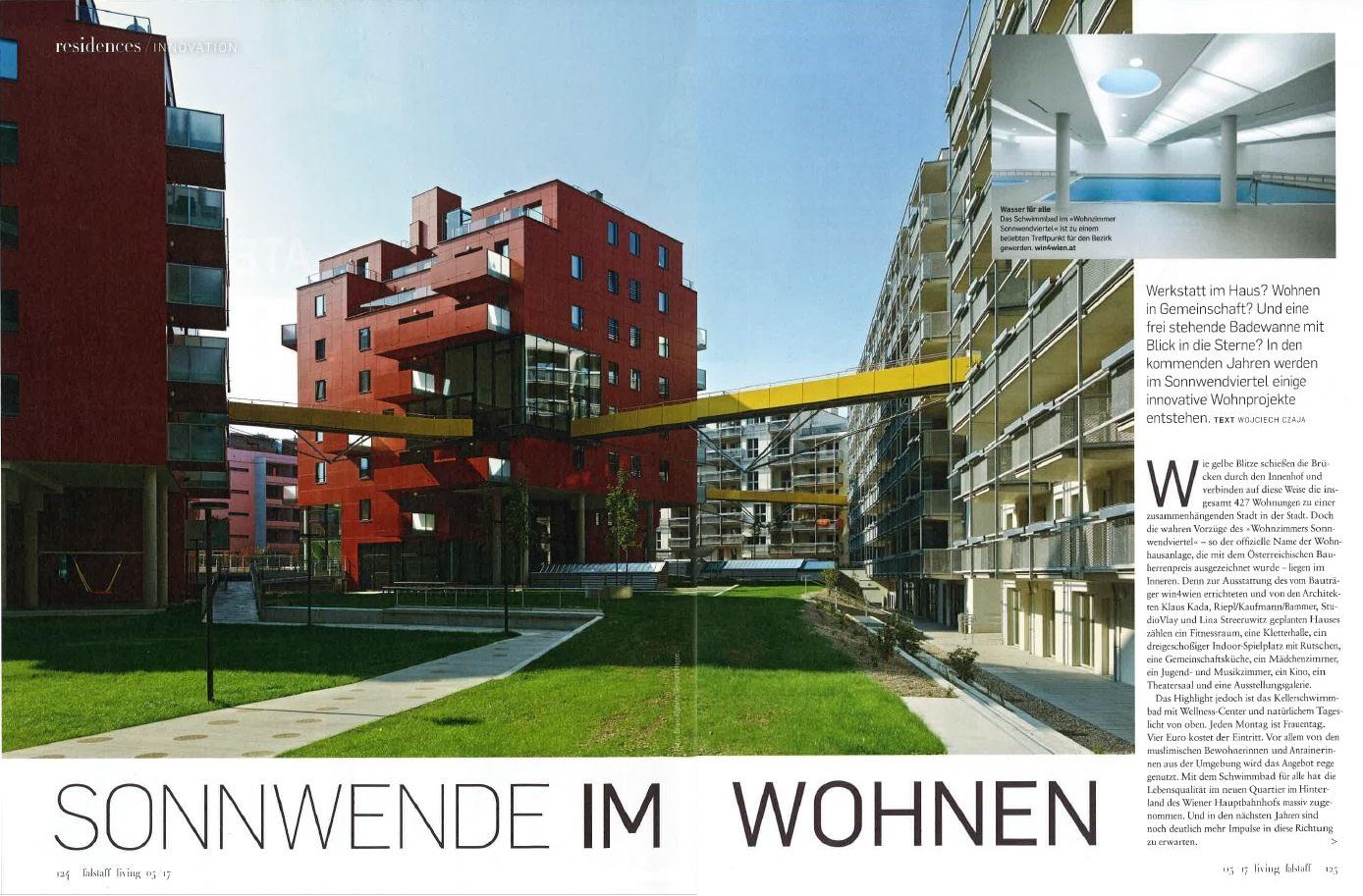 """""""Sonnwende im Wohnen"""" – Falstaff Living Nov 17"""