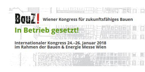 25.01. BauZ! Wiener Kongress für zukunftsfähiges Bauen