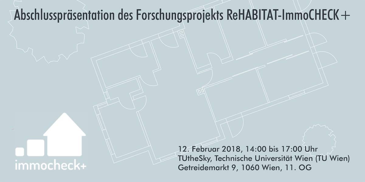 ReHabitat-ImmoCHECK+ Abschlusspräsentation am 12. Feb 2018