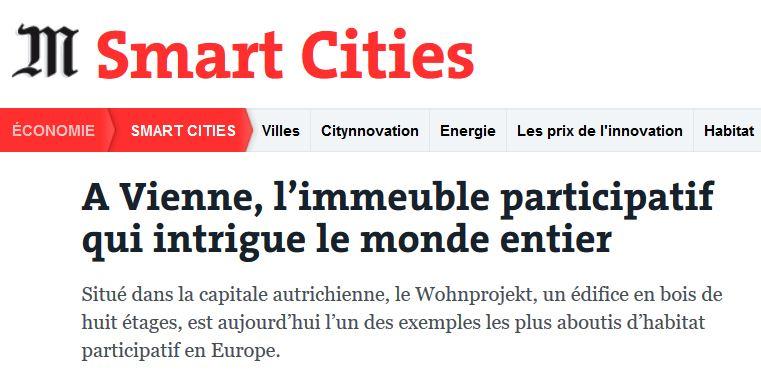 Wohnprojekt Wien im Le Monde am 25. Apr 18