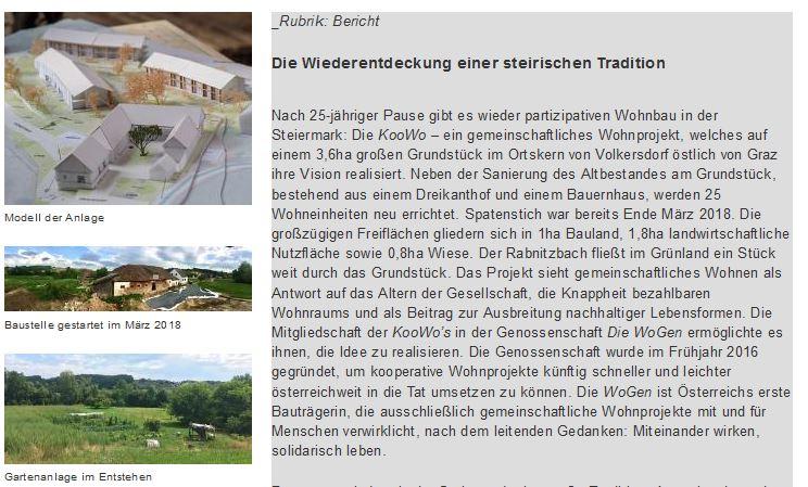 """""""Die Wiederentdeckung einer steirischen Tradition"""" – GAT.st  am 27. Juni 18"""