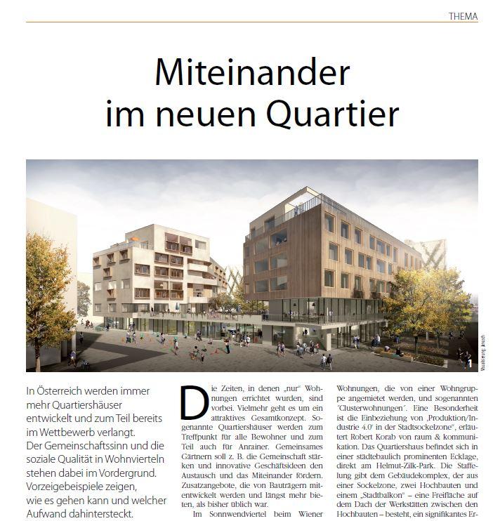 Unser WoGen Quartiershaus in der aktuellen Ausgabe des WohnenPLUS Magazins