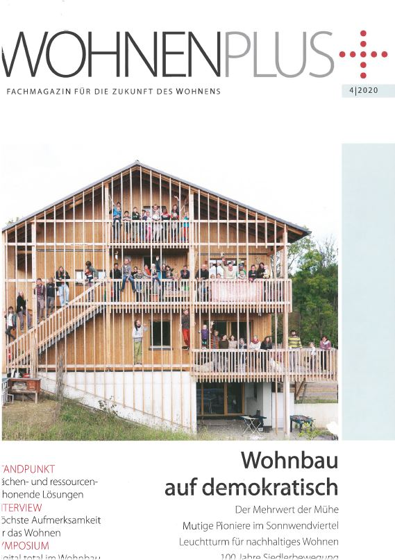 Leuchtturm für nachhaltiges Wohnen am Land so betitelt das neue Wohnen Plus Magazin unser KooWo Projekt