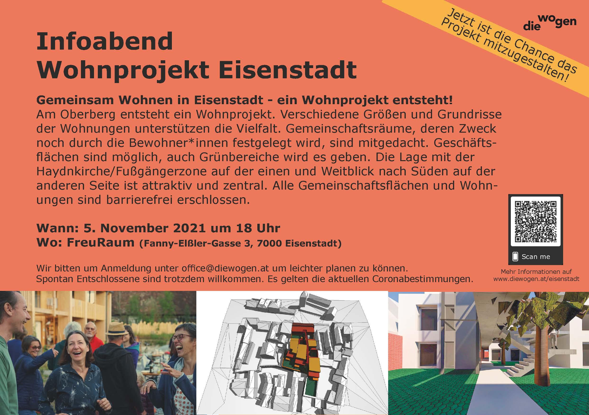Infoabend Wohnprojekt Eisenstadt am 5.11.21, 18h