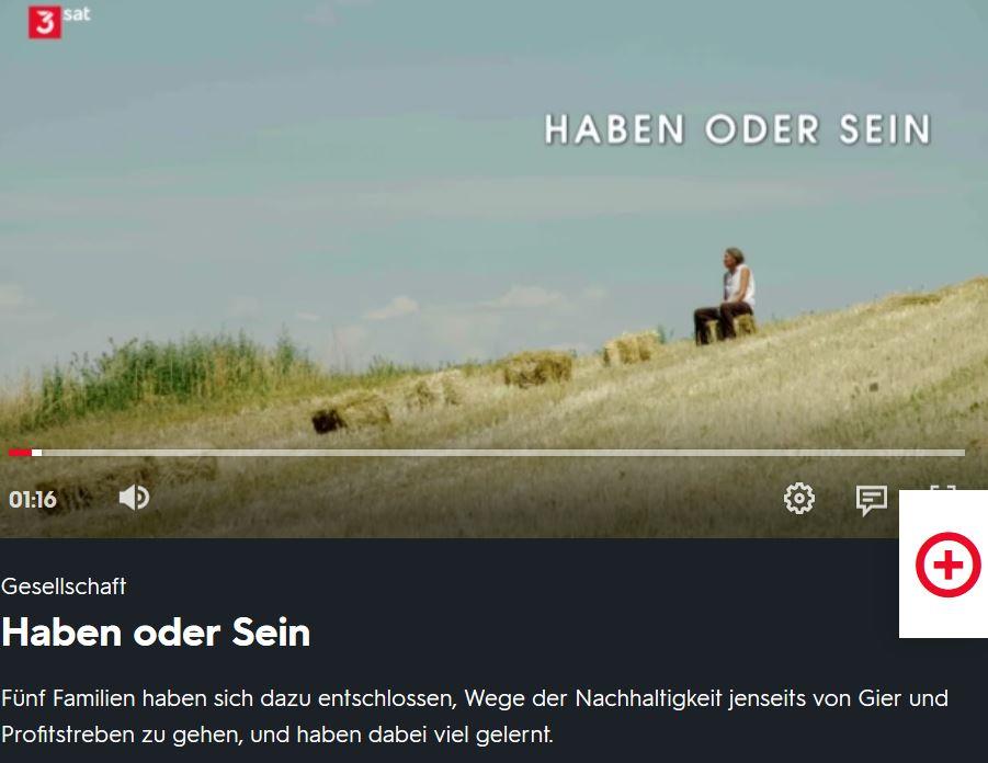 """3Sat: """"Haben oder Sein"""""""