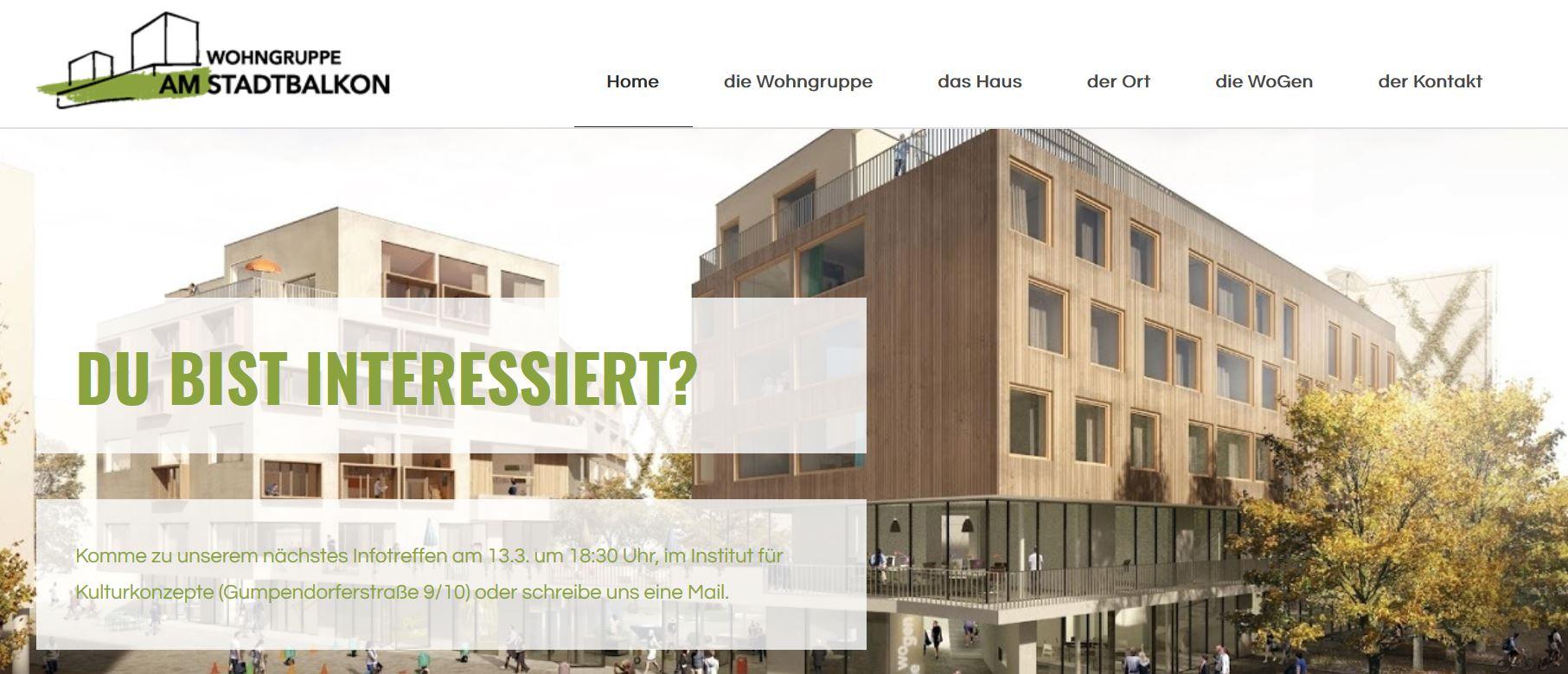 Neue Homepage der Wohngruppe am Stadtbakon