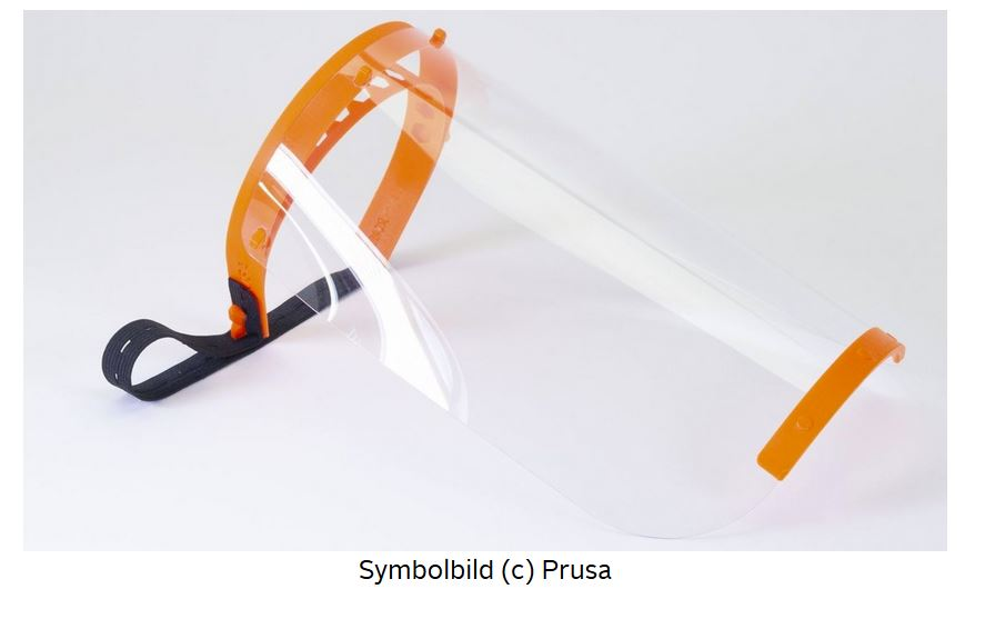 Happylab startet mit 3D-gedruckten Face Shields zum Schutz vor Covid19